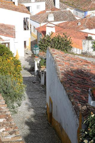 A view along a street in Obidos