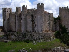 A view of the Castle at Obidos from the North side
