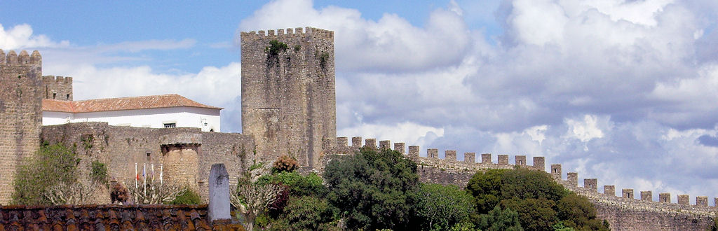 part of the town wall at Obidos