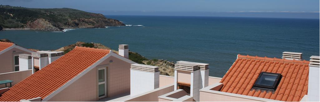 a picture showing the view from the roof terrace of Varandas de Santo Antonio